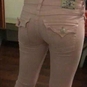 Light pink straight legged jeans